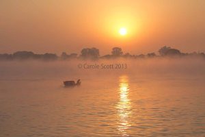 Irrawaddy Sunrise © Carole Scott 2013