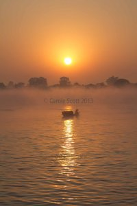 River sunrise © Carole Scott 2013