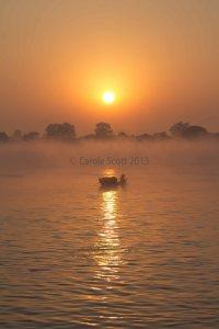 River sunrise © Carole Scott 2013