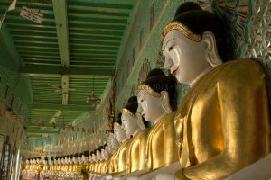 A row of Buddhas © Carole Scott 2013