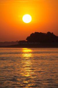Irrawaddy Sunset © Carole Scott 2013