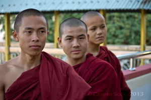 Monks *love* posing!