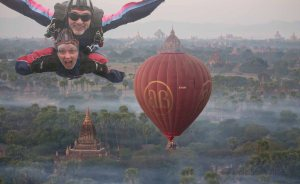 Skydiving over Bagan would be a dream come true!  © Carole Scott 2013