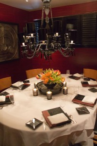 Private dining room at Gary Danko
